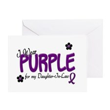 I Wear Purple For My Daughter-In-Law 14 Greeting C