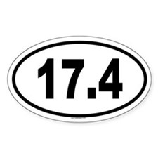 17.4 Oval Decal