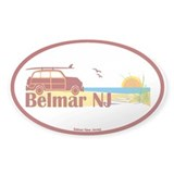 Belmar NJ Oval Decal