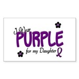 I Wear Purple For My Daughter 14 Bumper Stickers