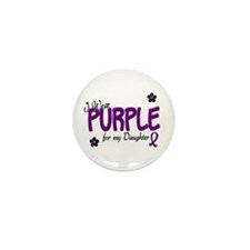 I Wear Purple For My Daughter 14 Mini Button (10 p