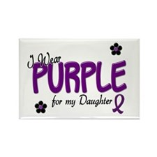 I Wear Purple For My Daughter 14 Rectangle Magnet
