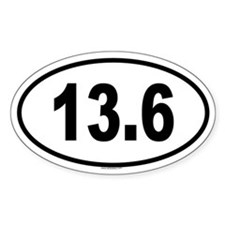13.6 Oval Decal