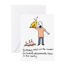 Birthday Cake Death Birthday Card