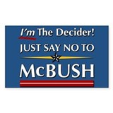 Decider McBush Rectangle Sticker 50 pk)
