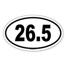26.5 Oval Decal