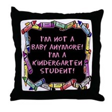 kindergarten student back to school Throw Pillow