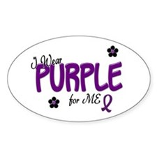 I Wear Purple For ME 14 Oval Decal