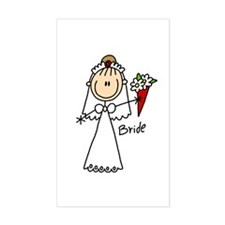 Stick Figure Bride Rectangle Decal