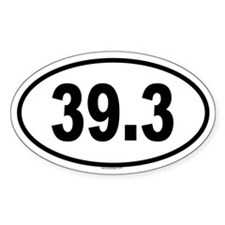 39.3 Oval Decal