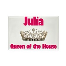 Julia - Queen of the House Rectangle Magnet