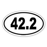 42.2 Oval Bumper Stickers