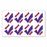 Good Job Sticker Sheet (Rectangle 10 pk)