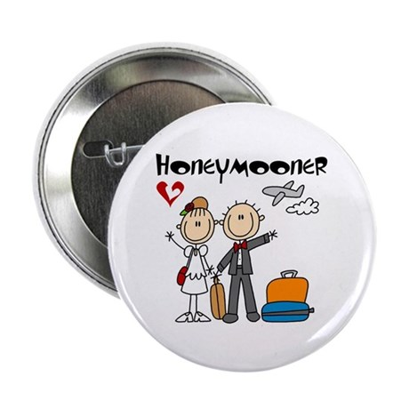 "Stick Figure Honeymooner 2.25"" Button (10 pac"