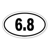 6.8 Oval Decal