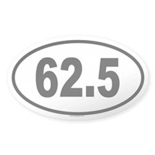 62.5 Oval Sticker (50 pk)