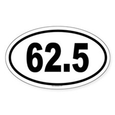 62.5 Oval Decal