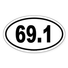 69.1 Oval Decal