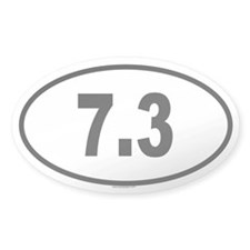 7.3 Oval Decal