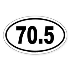 70.5 Oval Decal