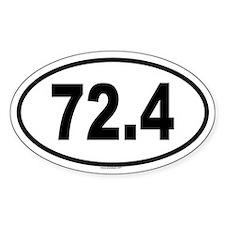 72.4 Oval Sticker (50 pk)