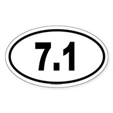 7.1 Oval Sticker (10 pk)