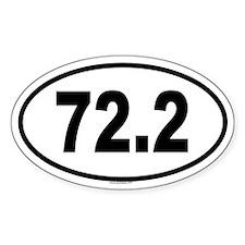 72.2 Oval Sticker (10 pk)