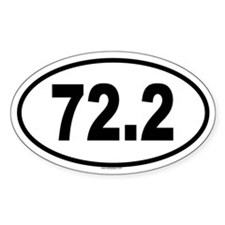 72.2 Oval Sticker (50 pk)