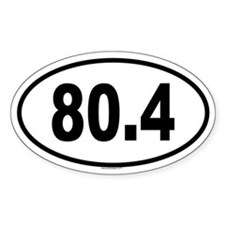80.4 Oval Decal