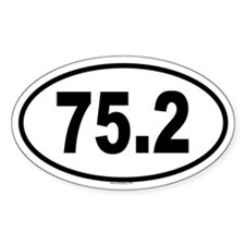 75.2 Oval Sticker (10 pk)
