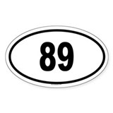 89 Oval Decal