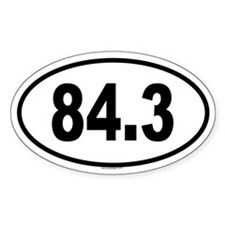 84.3 Oval Decal