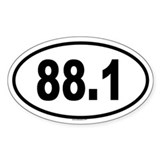 88.1 Oval Decal
