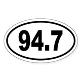 94.7 Oval Sticker (50 pk)