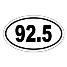 92.5 Oval Decal