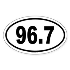 96.7 Oval Decal