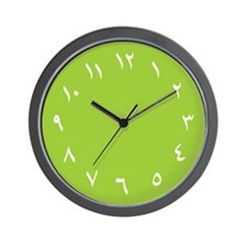 Iranian Wall Clock (Green)