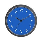 Iranian Wall Clock (Blue)