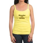 Blondes Not Bombs Jr. Spaghetti Tank