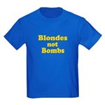 Blondes Not Bombs Kids Dark T-Shirt