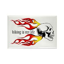 Biking Rectangle Magnet (10 pack)