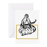Qajar Tar-player Greeting Cards (Pk of 10)