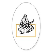 Qajar Tar-player Oval Decal