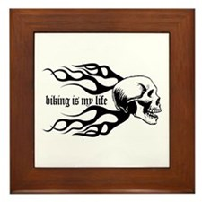 Biking Framed Tile
