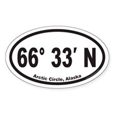 Arctic Circle Alaska Euro Oval Decal