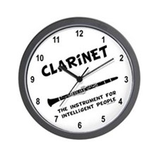 Clarinet Genius Wall Clock