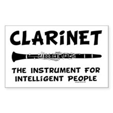 Clarinet Genius Rectangle Sticker 10 pk)