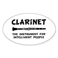 Clarinet Genius Oval Sticker (10 pk)