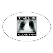 RADIOGRAPHING Oval Decal