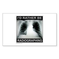 RADIOGRAPHING Rectangle Sticker 10 pk)